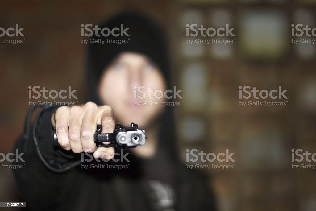 Criminal in control royalty-free stock photo