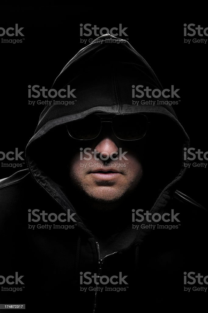 Criminal in the shadows royalty-free stock photo
