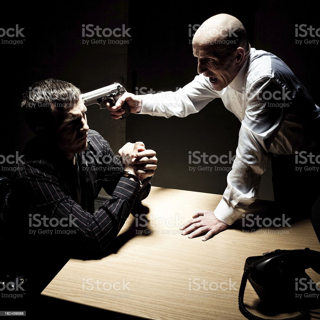 Criminal Interrogation royalty-free stock photo