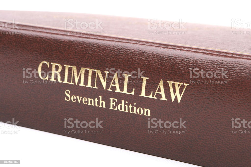 Criminal Law Book royalty-free stock photo