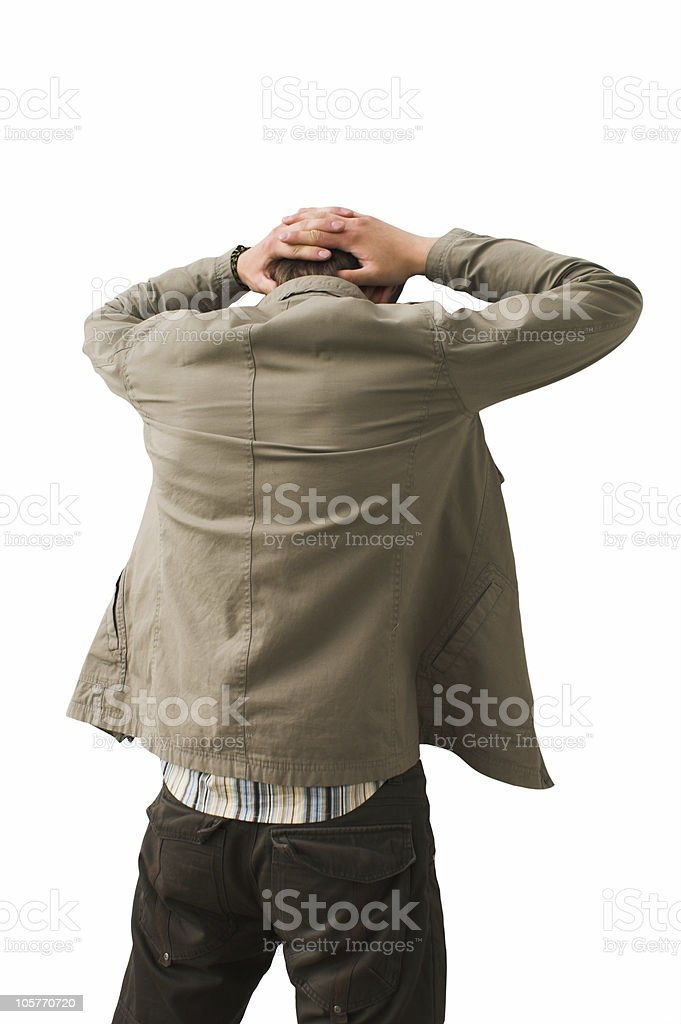 criminal man stock photo