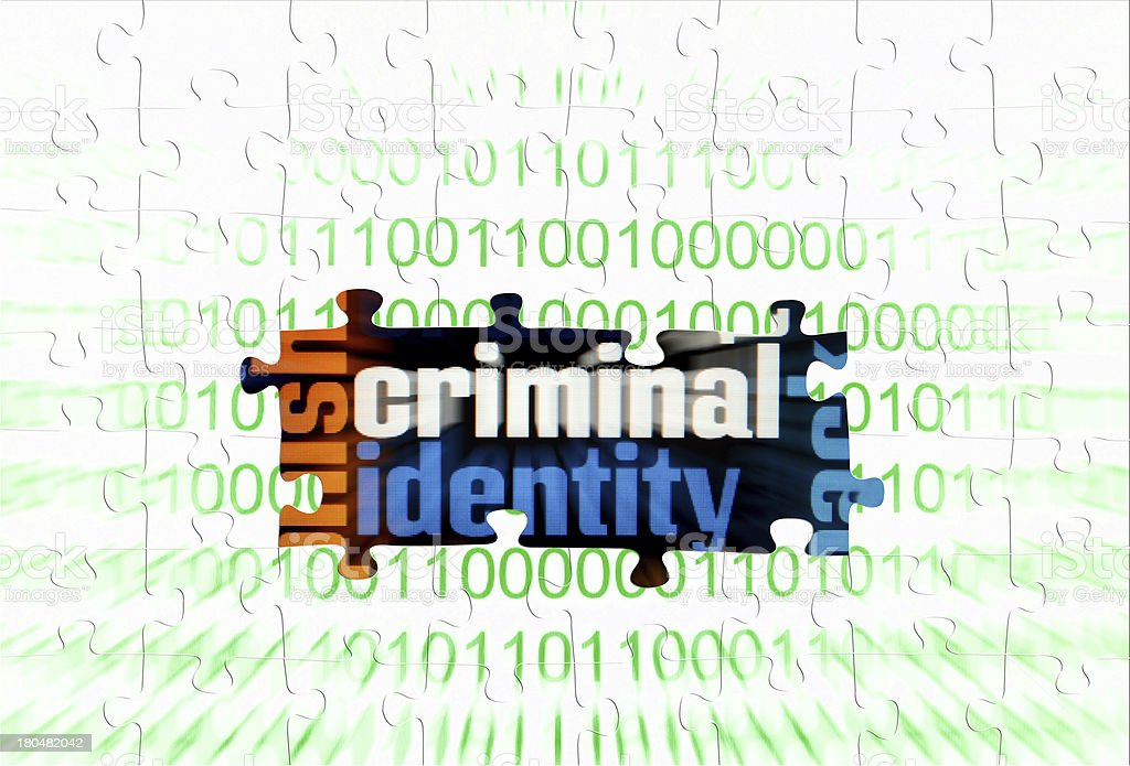 Criminal puzzle concept royalty-free stock photo