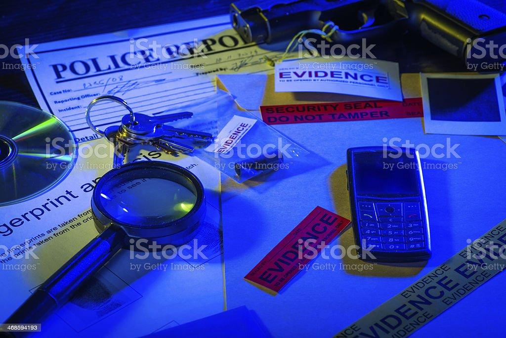 Criminal records stock photo