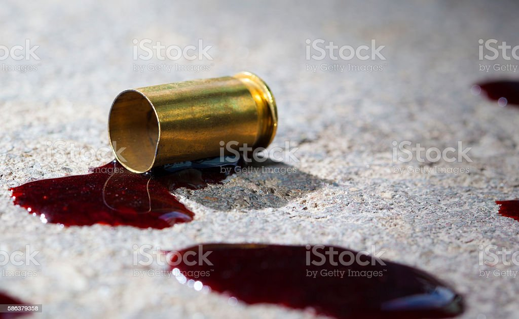 Criminal shooting stock photo