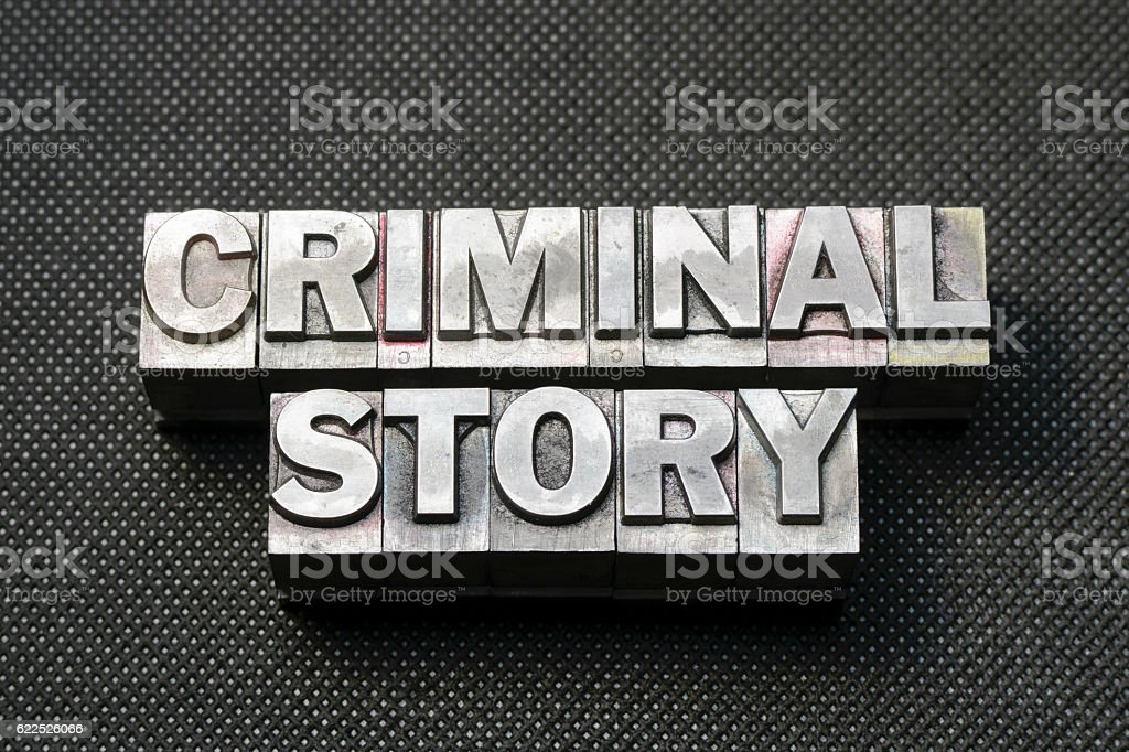 criminal story bm stock photo