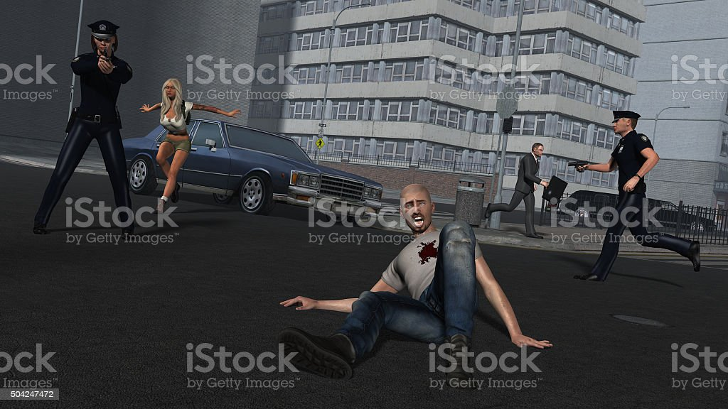 Criminal View stock photo
