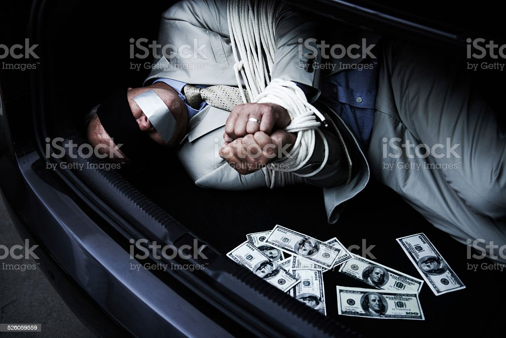 Criminals cashing in on his success stock photo