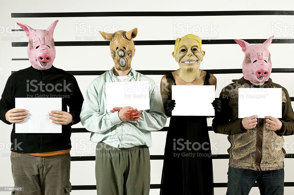 Criminals Copy Space royalty-free stock photo