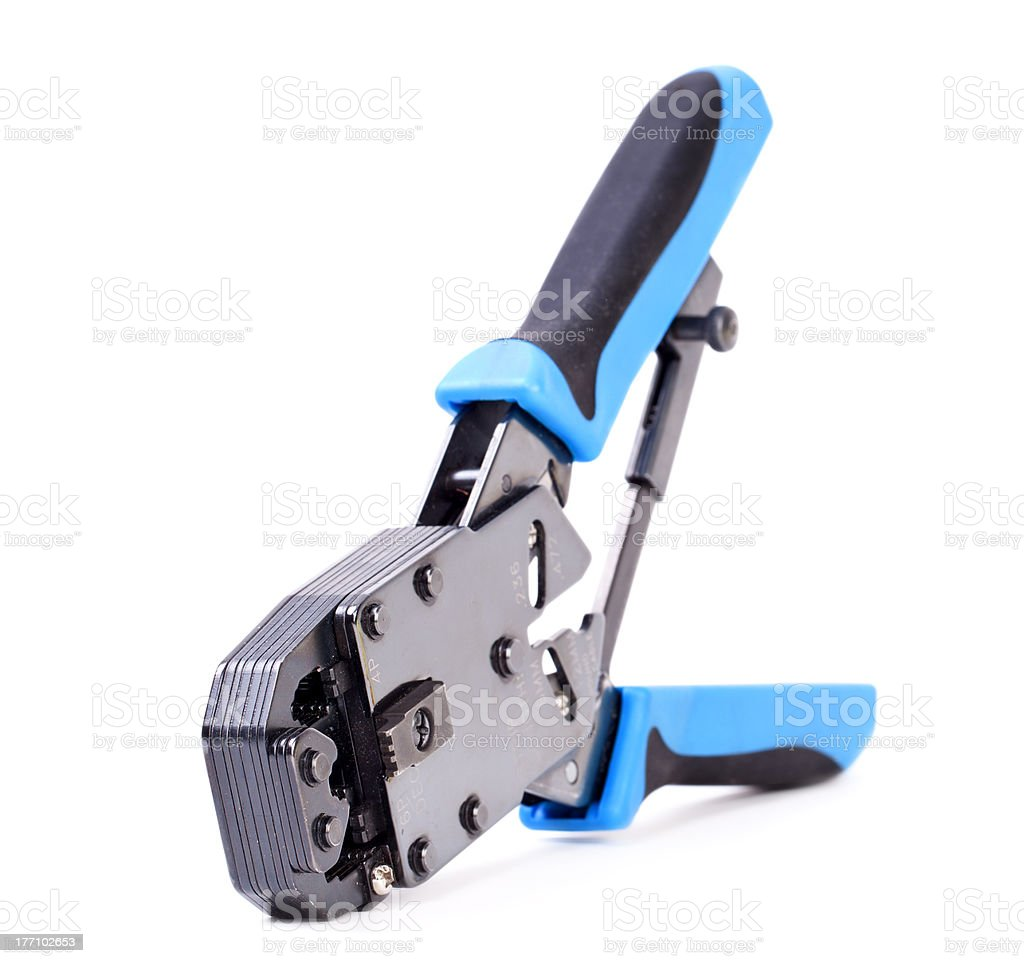 crimp tool royalty-free stock photo