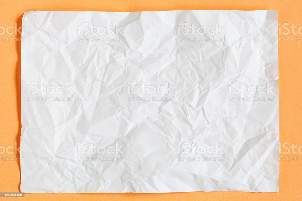 crimp White Paper texture sheet royalty-free stock photo