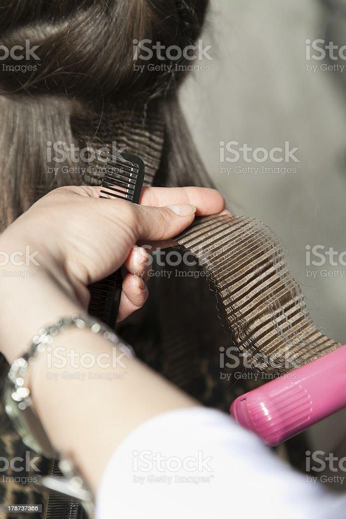 crimping hair stock photo