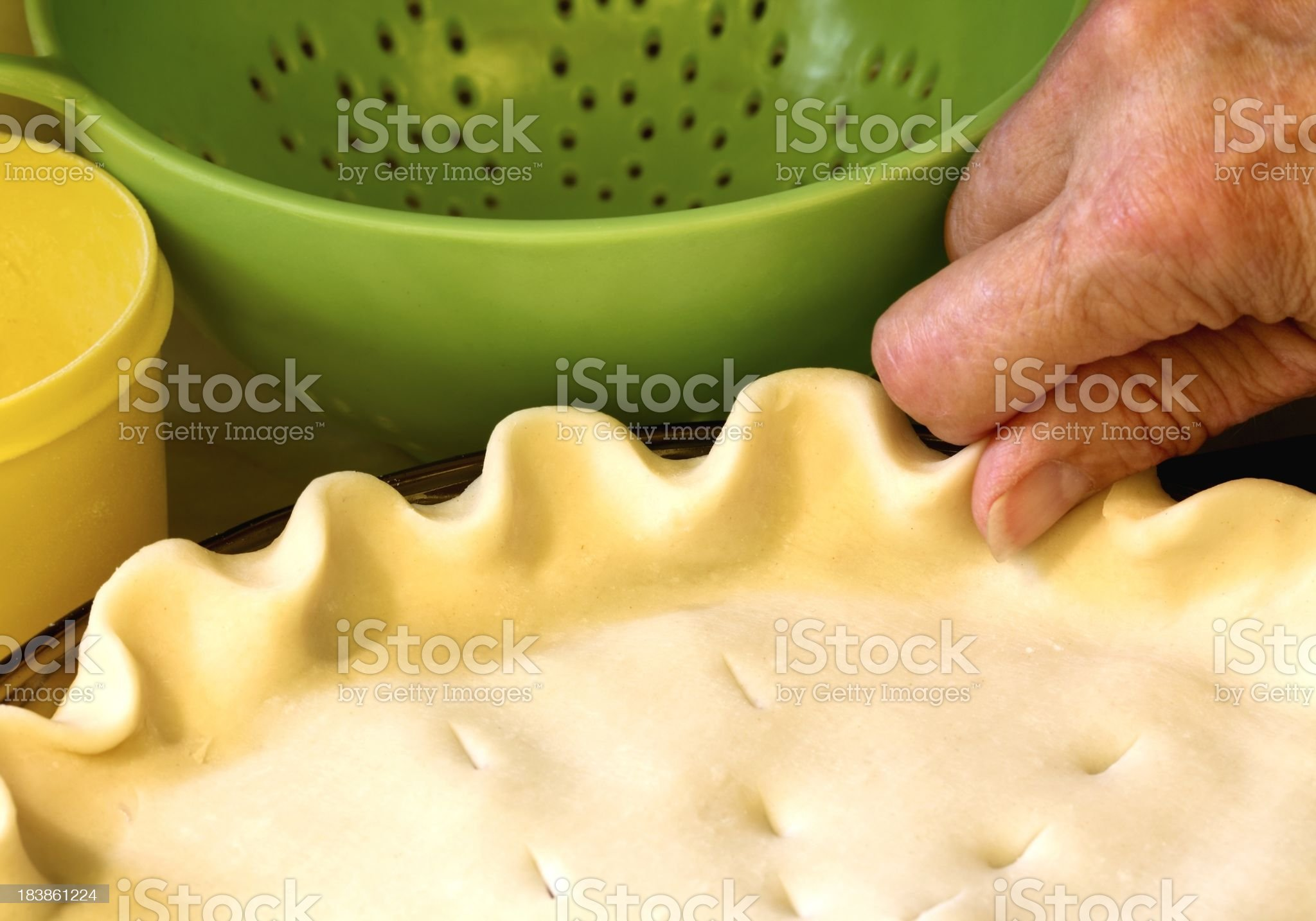 Crimping Pie Crust Edge royalty-free stock photo