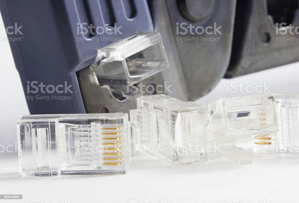 crimping tool and jack stock photo