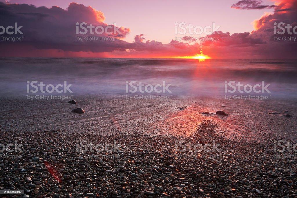 Crimson playa foto de stock libre de derechos