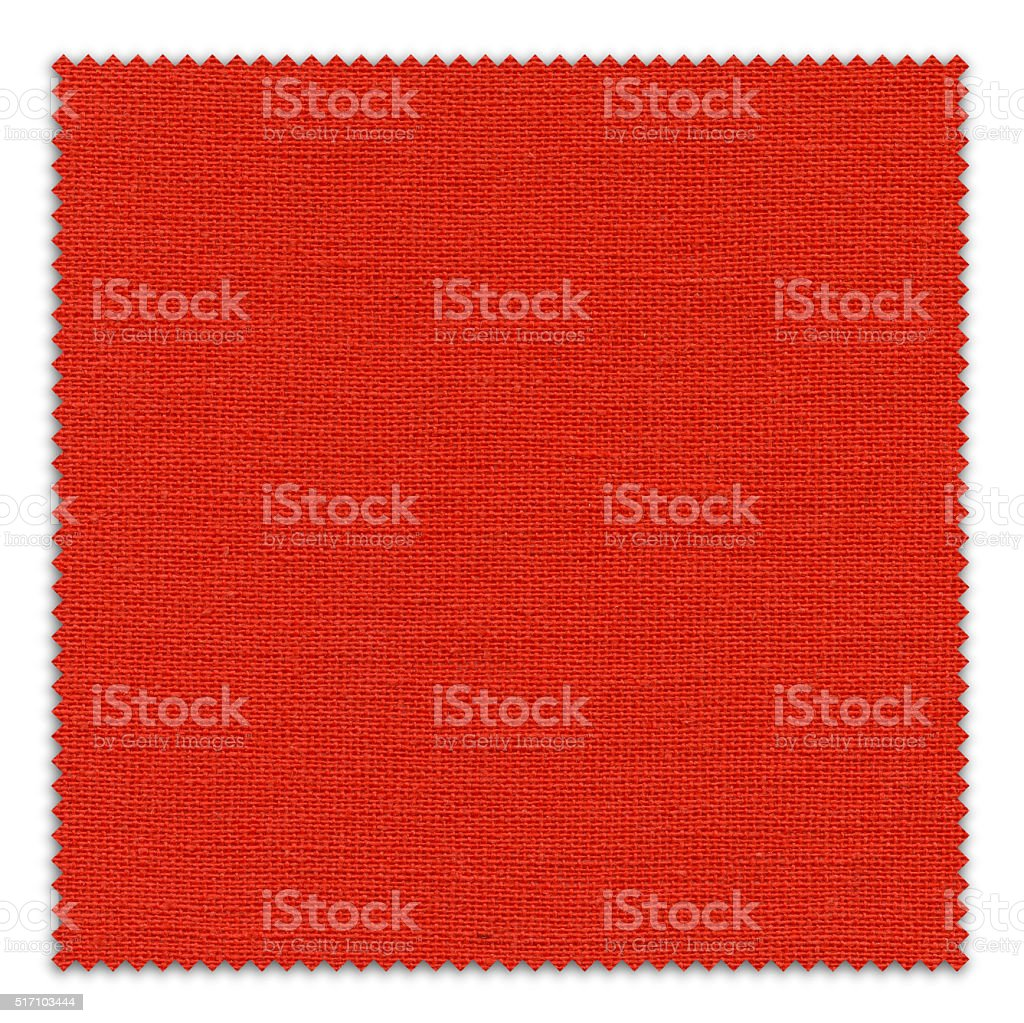 Crimson Red Fabric Swatch (Clipping Path) stock photo