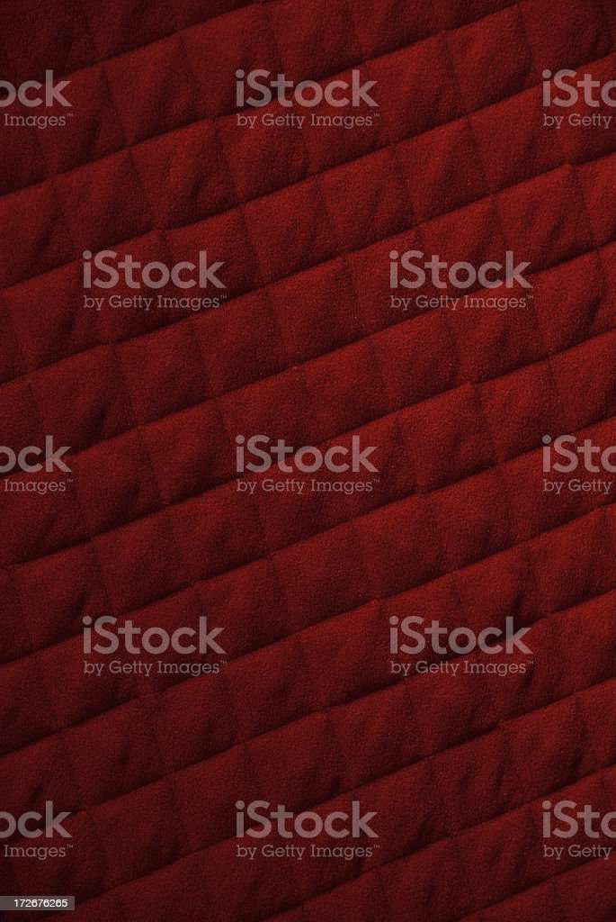 Crimson Red Quilted Background Full Frame Pattern royalty-free stock photo