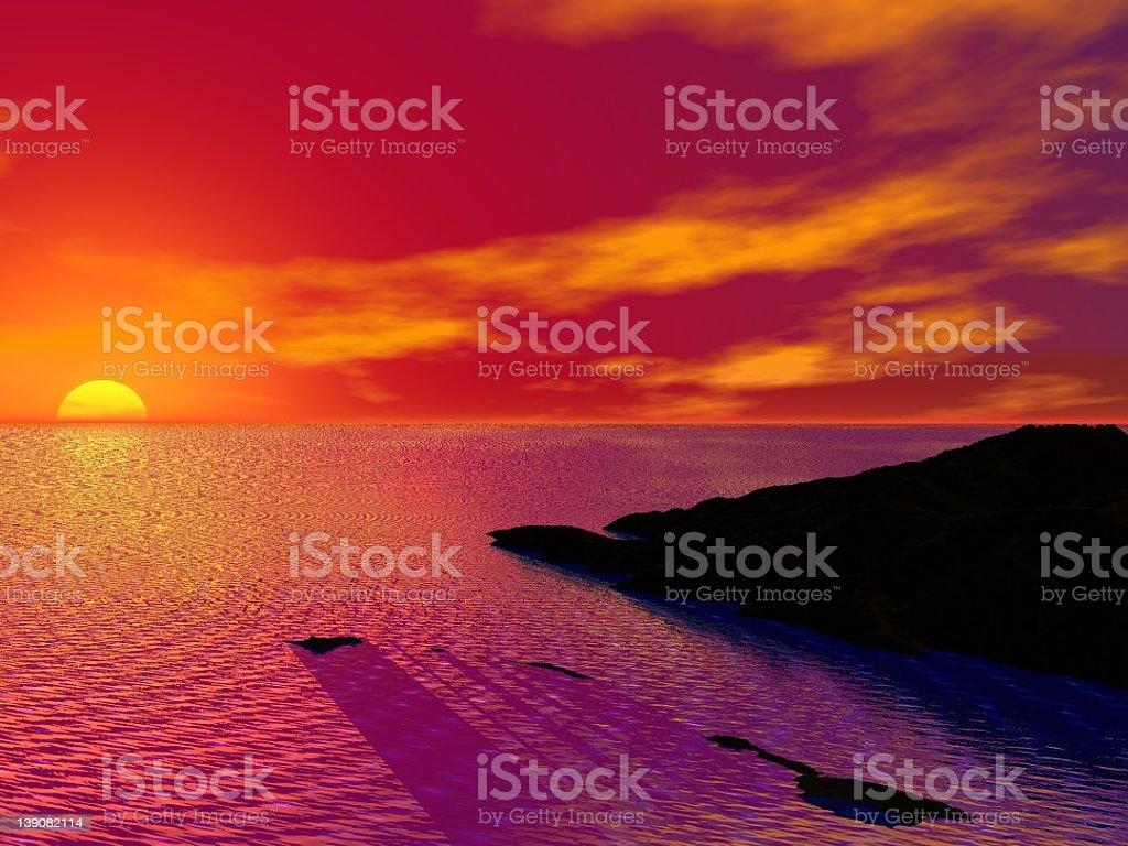 Crimson Sky royalty-free stock photo