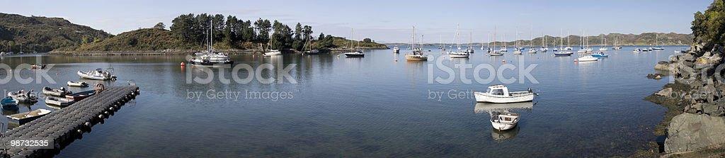 Crinan Harbour - Panoramic View royalty-free stock photo