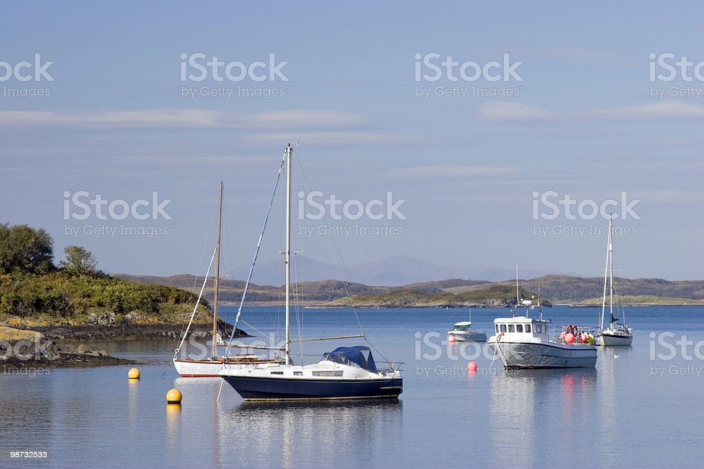 Crinan Harbour royalty-free stock photo