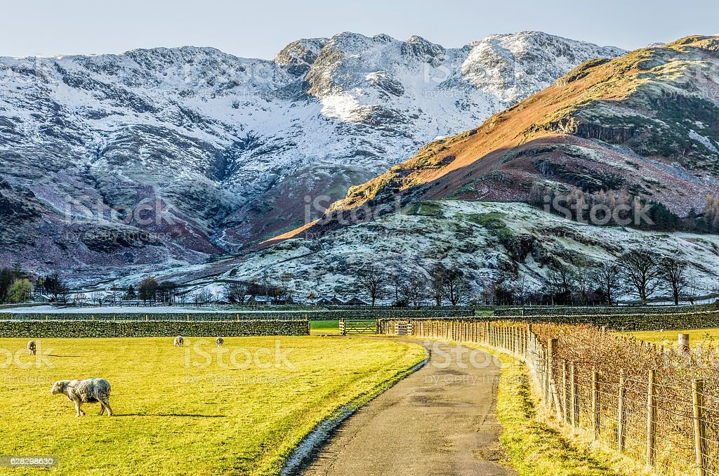 Crinkle Crags at Langdale stock photo