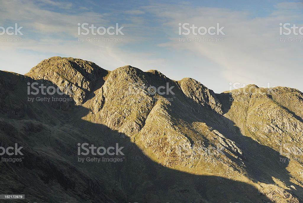 Crinkle Crags in the English Lake District stock photo