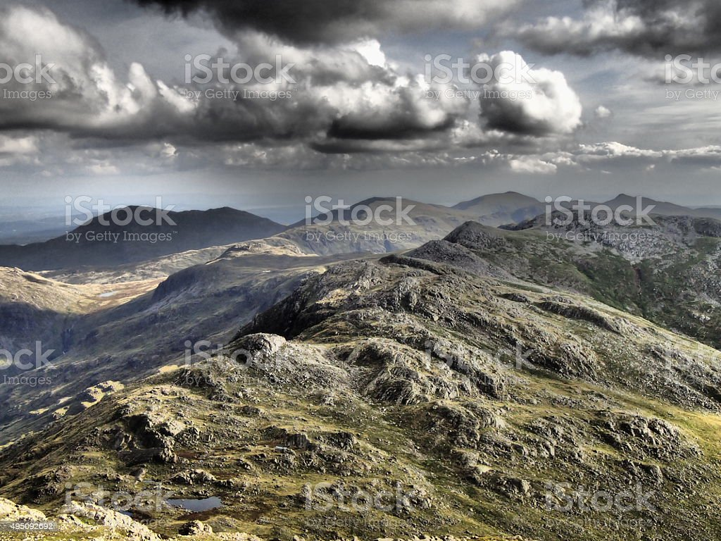 Crinkle Crags Lake District stock photo