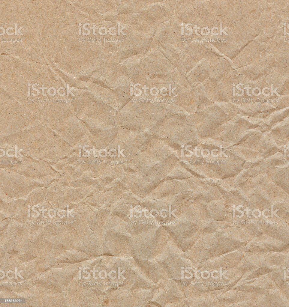 Crinkled paper royalty-free stock photo