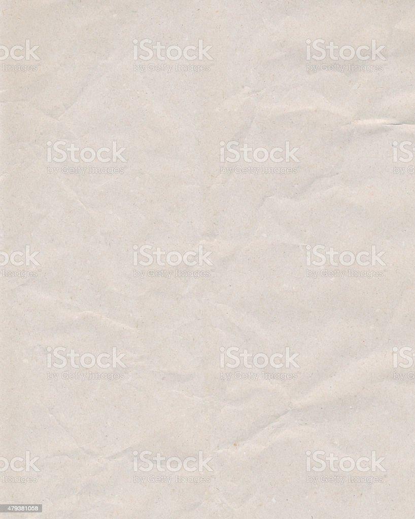Crinkled white paper stock photo