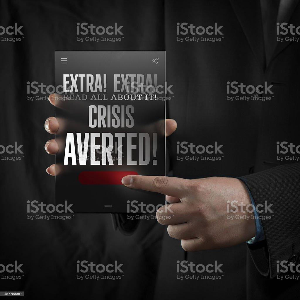 Crisis Averted stock photo