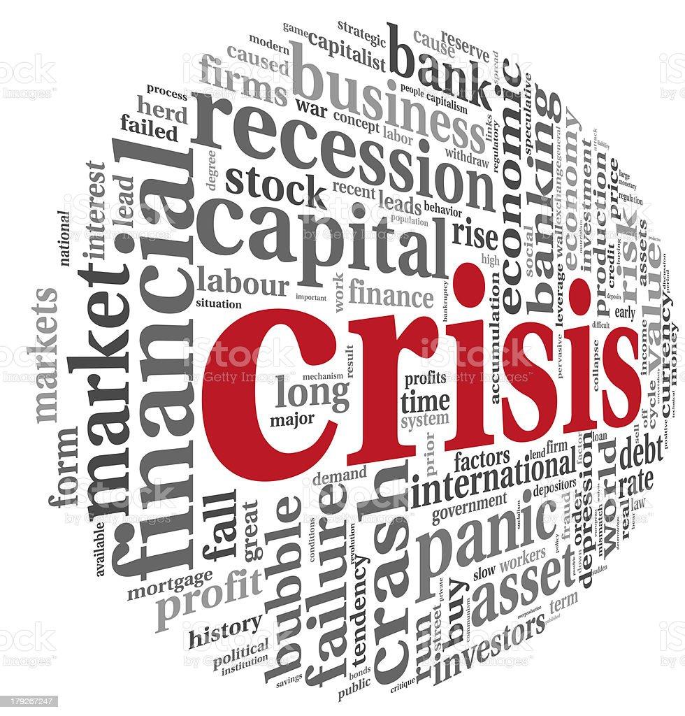 Crisis concept on white stock photo