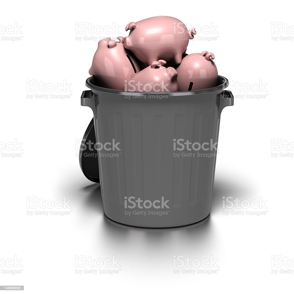 crisis concept - wasting money stock photo