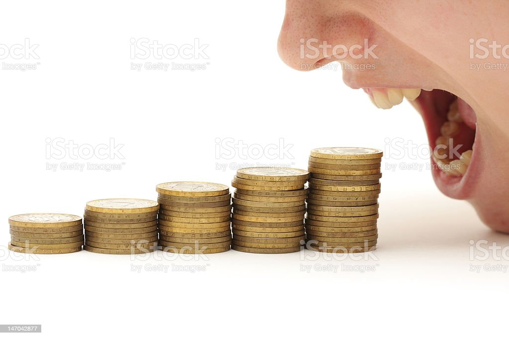 Crisis eating your money royalty-free stock photo