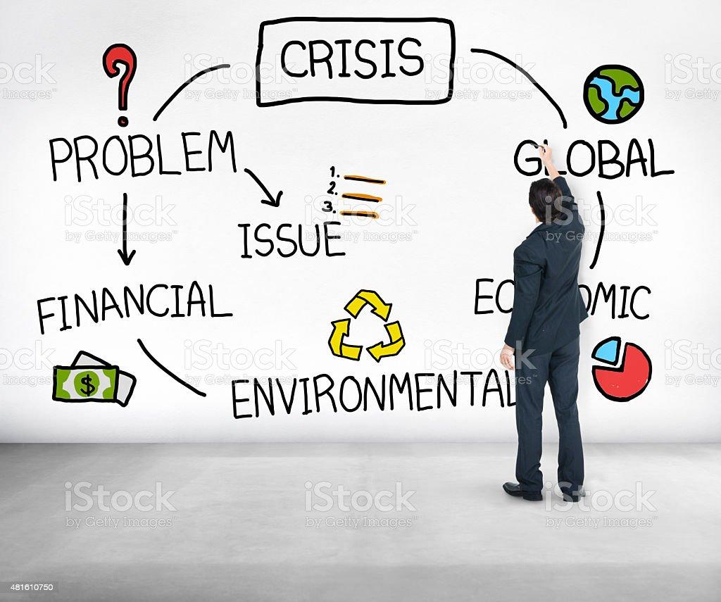 Crisis Economic Environmental Finance Global Concept stock photo
