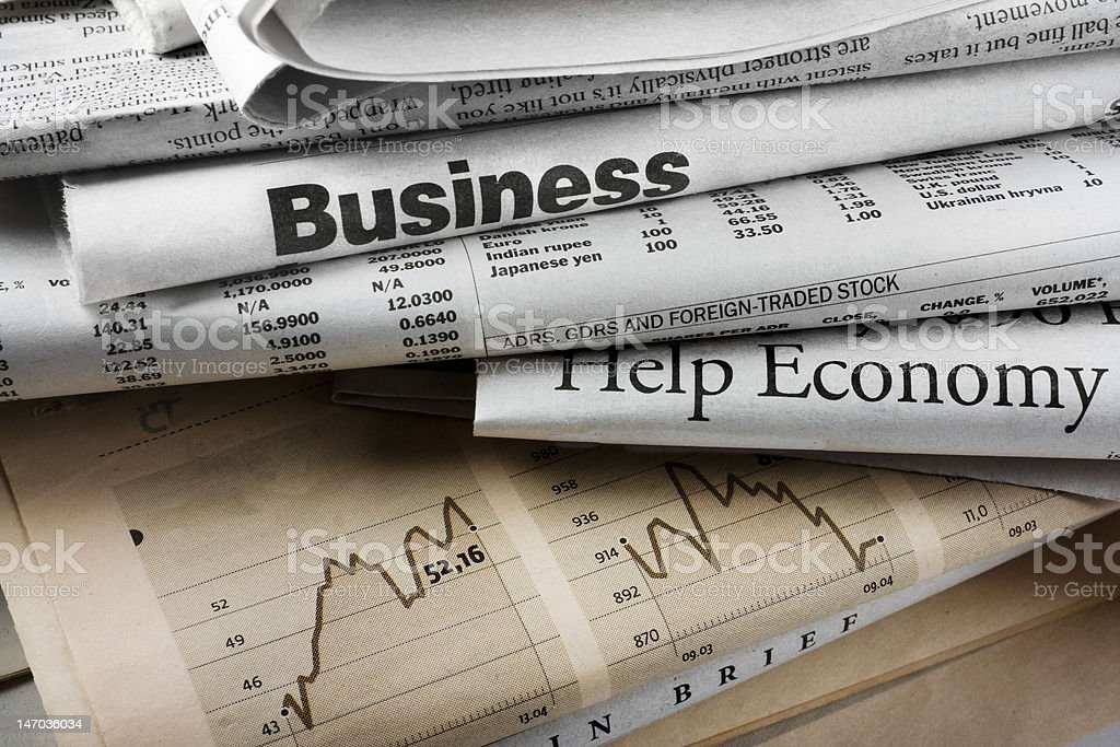 Crisis in news stock photo