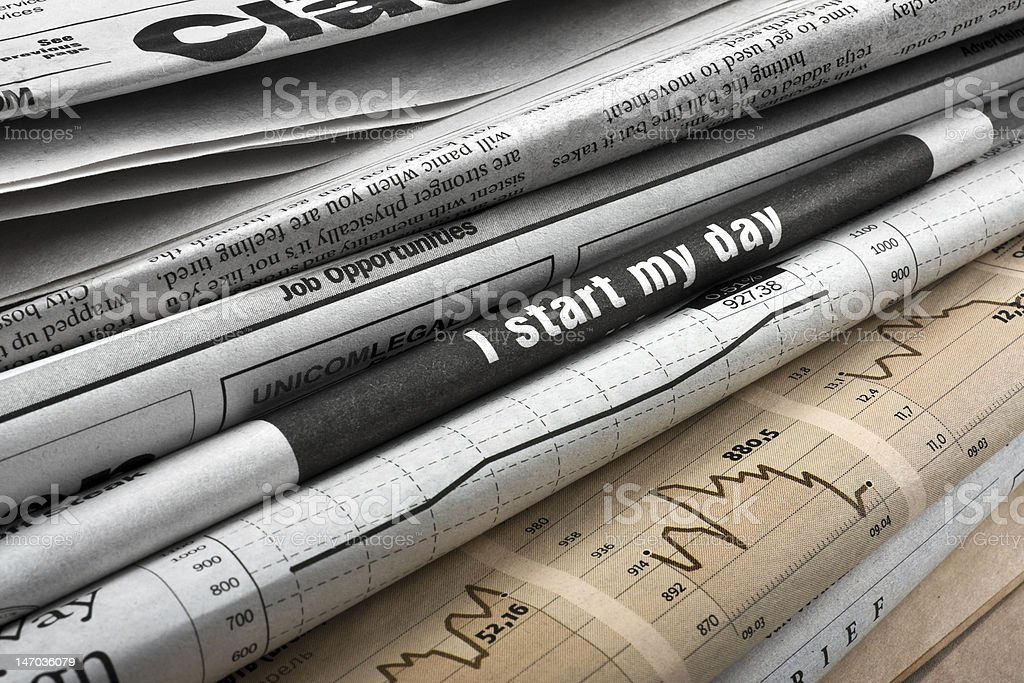 Crisis in news royalty-free stock photo