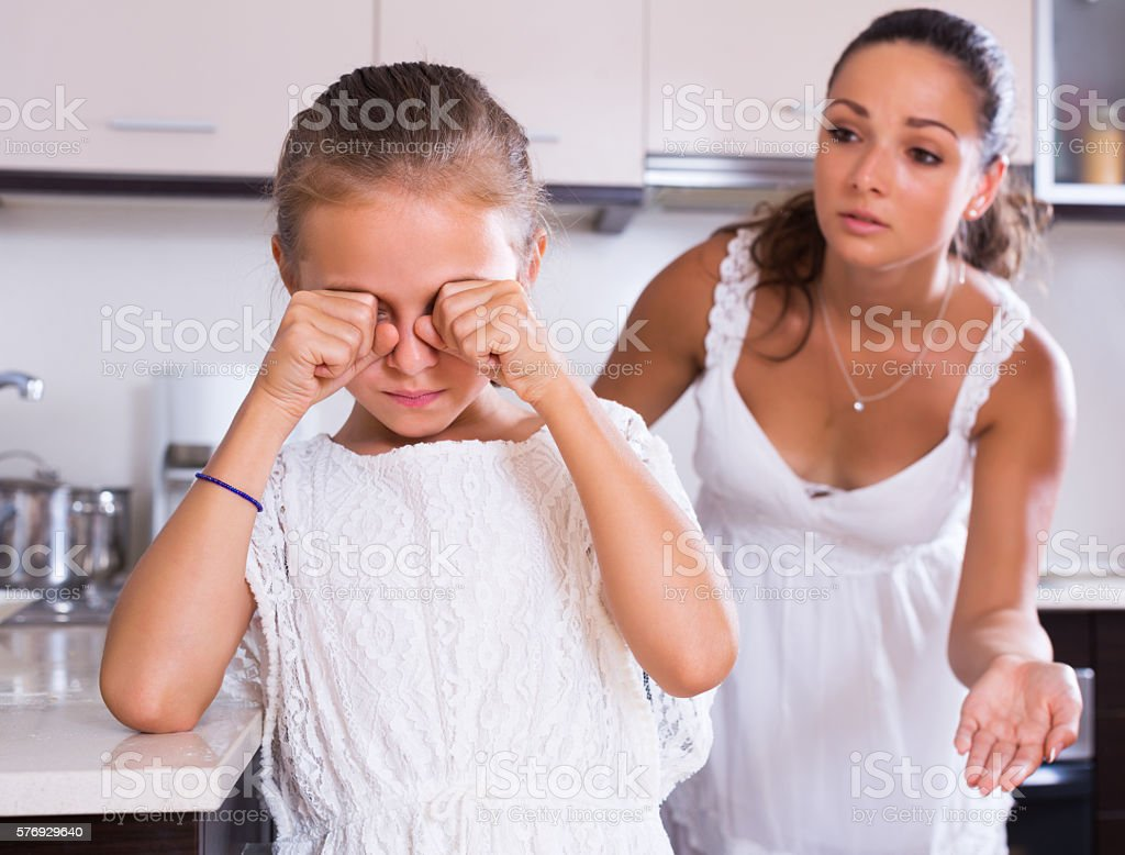 Crisis of motherhood stock photo