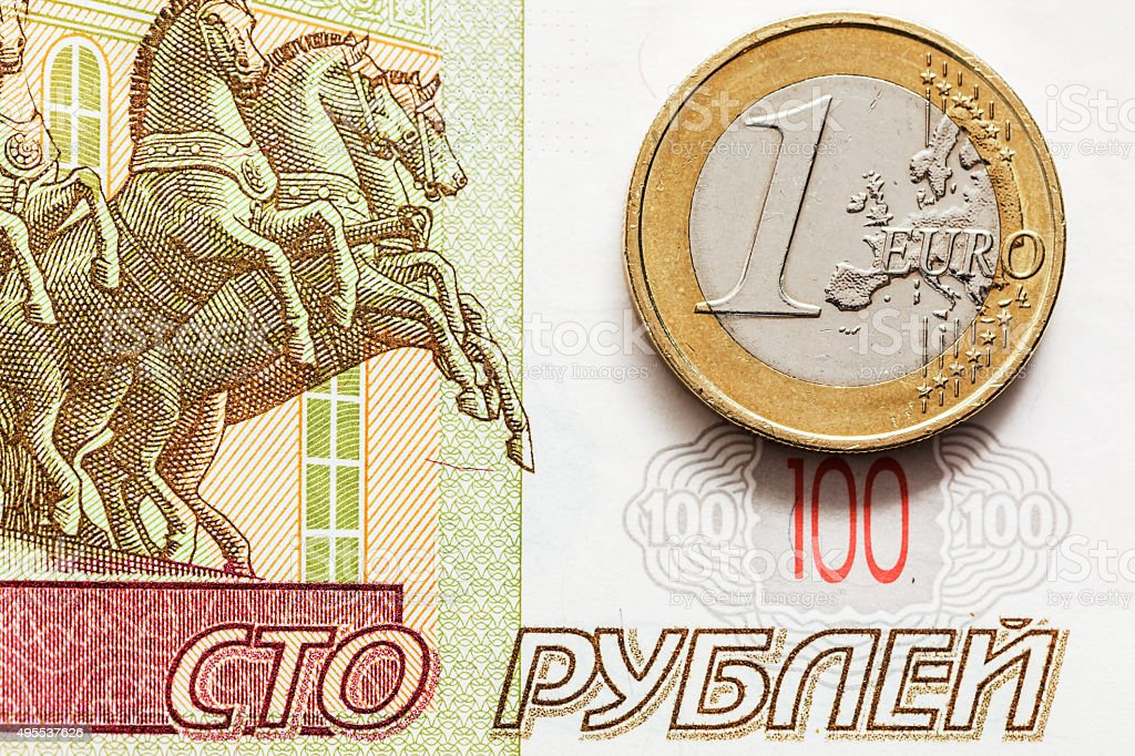 Crisis of the Russian economy stock photo