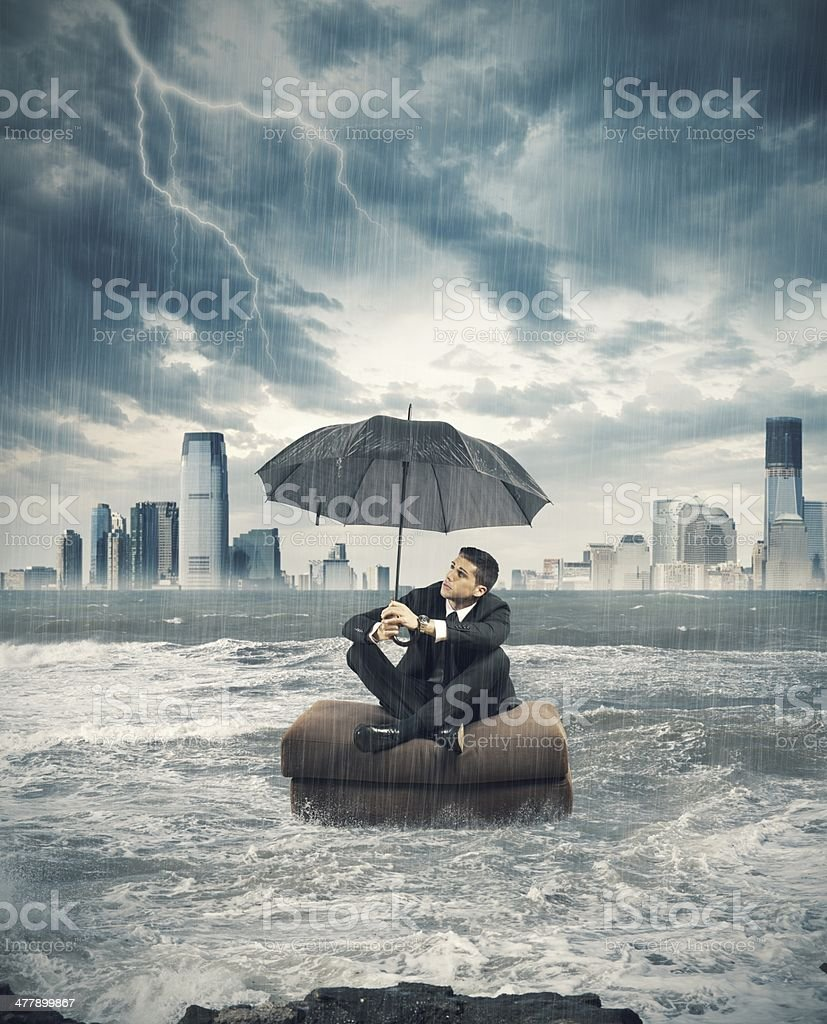 Crisis storm in business royalty-free stock photo