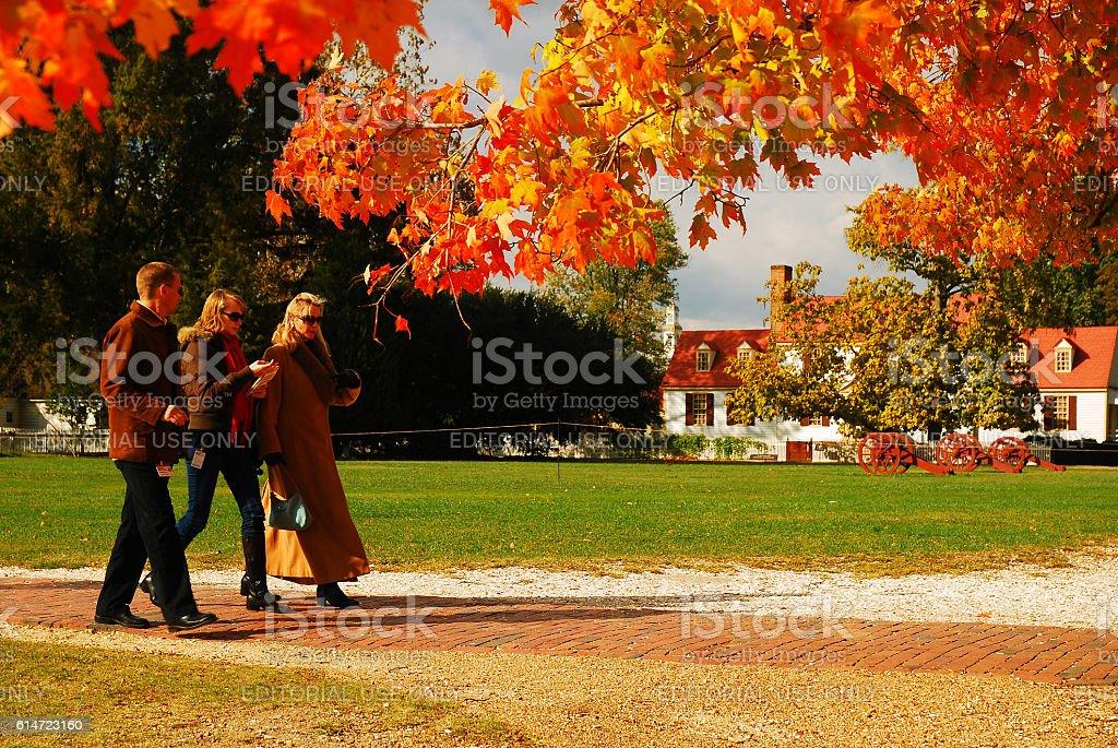 Crisp autumn day stock photo