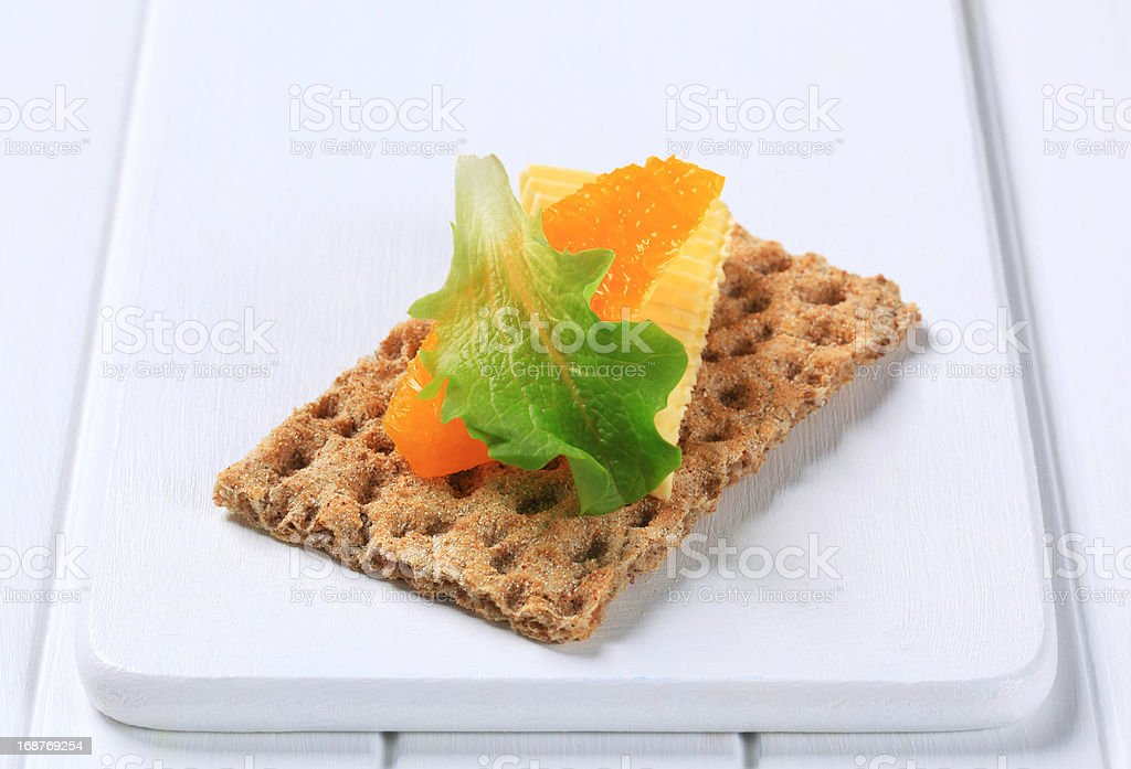 Crisp bread and butter royalty-free stock photo