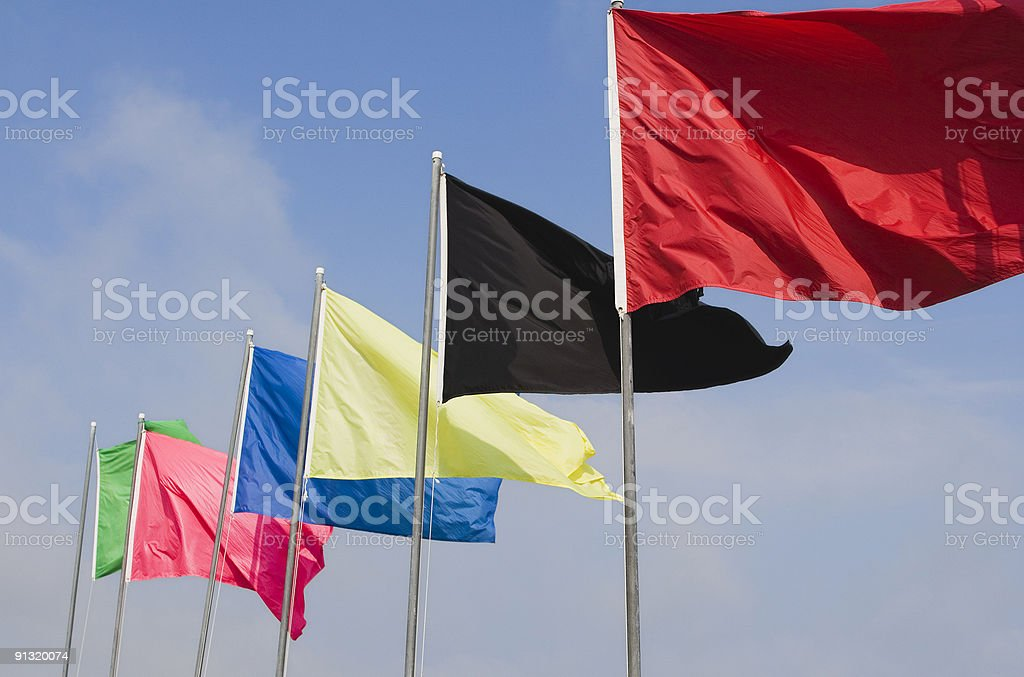 Crisp Colored Flags stock photo