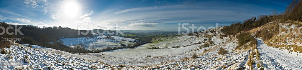 Crisp country snowscape royalty-free stock photo