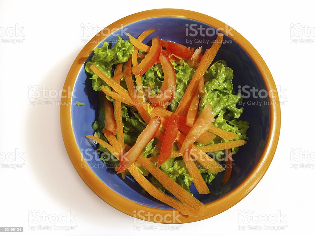 Crisp Garden Salad stock photo