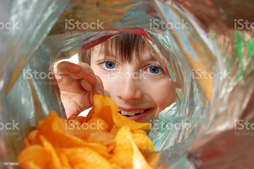 Crisp Monster stock photo