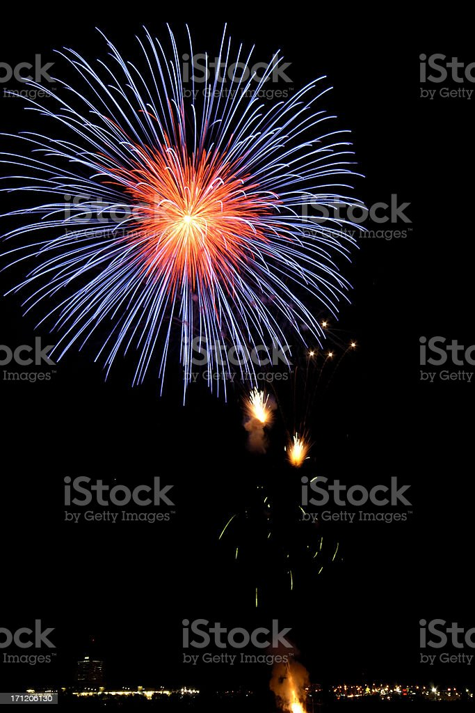 Crisp Single Fireworks burst royalty-free stock photo
