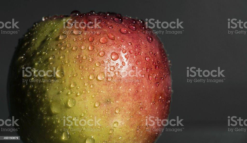 Crisp Wet Apple stock photo