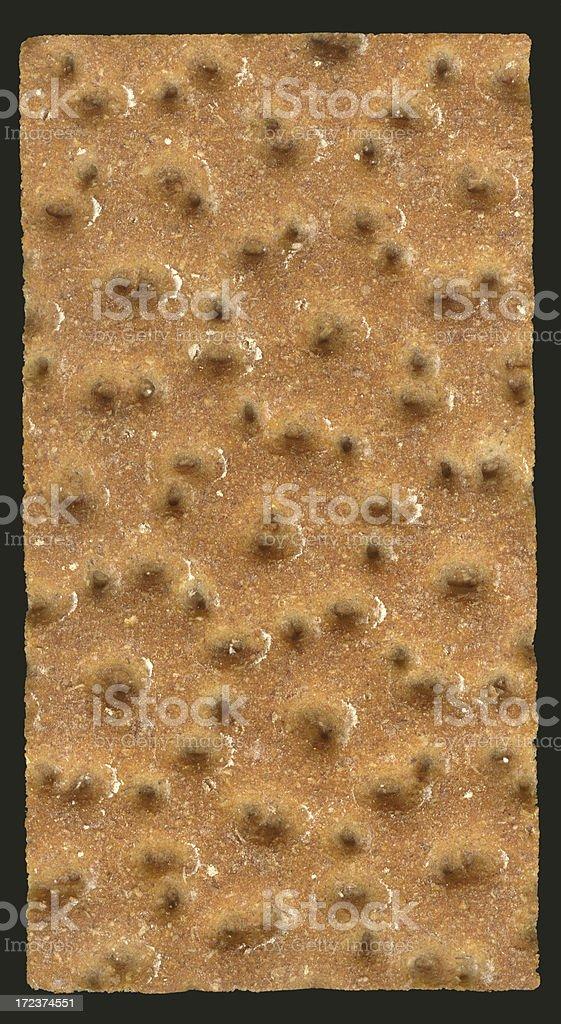 Crispbread, isolated on black. XXL royalty-free stock photo