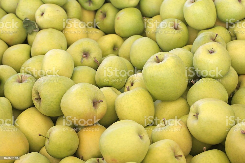 Crispin (also known as Mutsu) apples stock photo