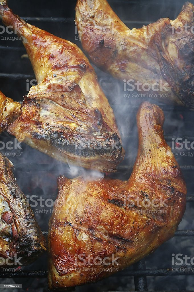 crispy barbecue chicken royalty-free stock photo