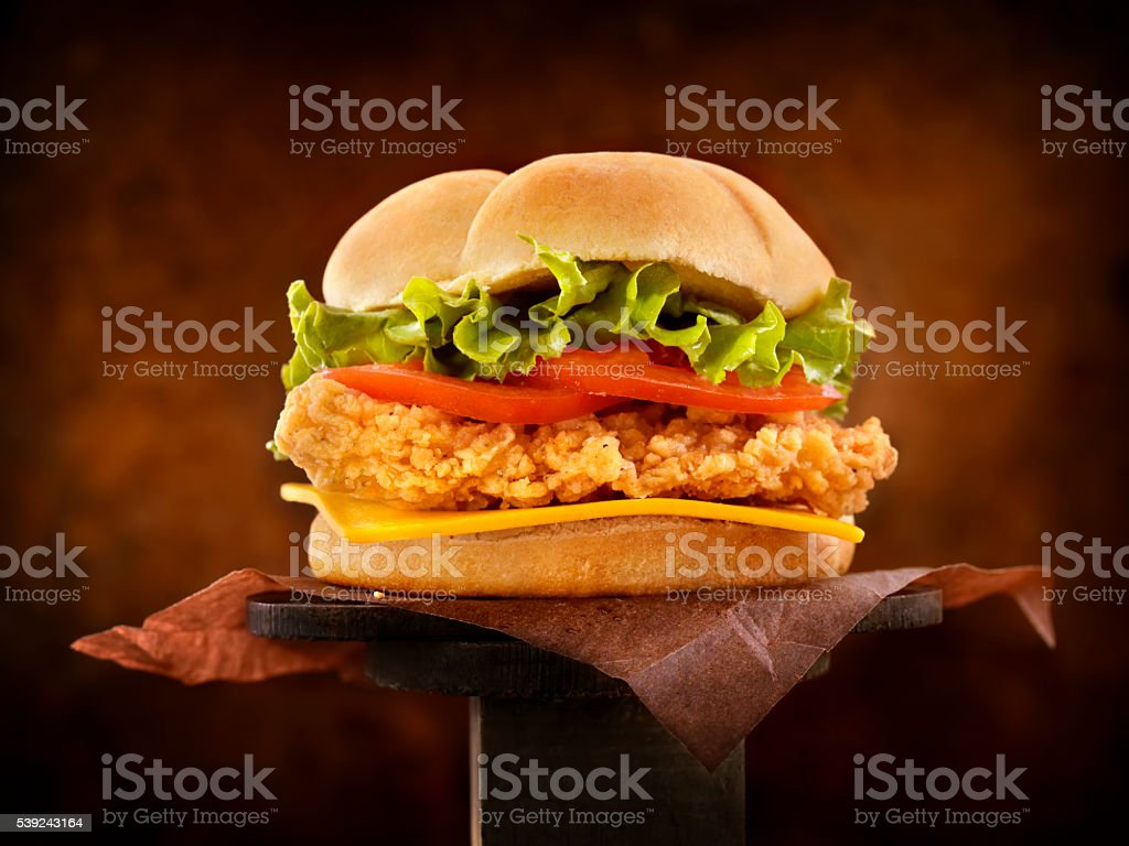 Crispy Chicken Burger stock photo